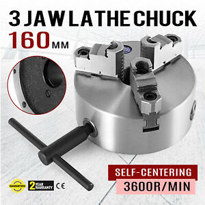 3 Jaw Manual Lathe Chuck 160mm 6 Self centering Reversible Jaw K11 160 Milling