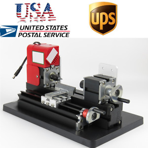 Mini Small Metal Lathe Machine Saw Combined Motorized Tool 12vdc 2a 24w Usa