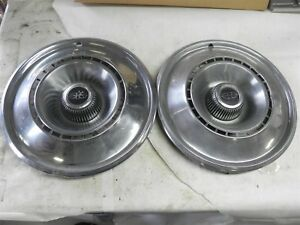 1968 Buick Riviera 15 Inch Hub Caps Wheel Covers Some Dings Vintage Automotive