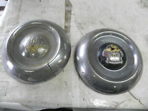 1950 Oldsmobile Dog Dish Hub Caps Wheel Covers Crack Cool Wow Vintage Automotive