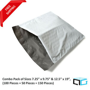 150 Pcs dvd 7 25x9 75 100 6 12 5x19 50 Poly Bubble Mailer Padded Bags