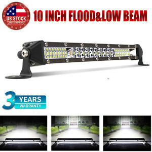10inch 126w Cree Led Light Bar Spot Flood Combo Beam For Suv Off Road 4wd Truck