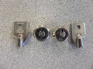 Gem Tubular Key Vending Machine Lock Pair Keyed Alike