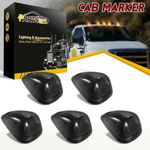 5pcs Black Smoke Amber 16 Led Cab Marker Clearance Light Assembly For 99 16 Ford