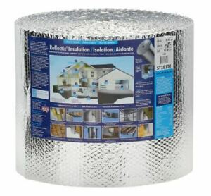 Double Reflective Insulation Roll 16 In X 100 Ft Staple Tab Edge Mold Resistant