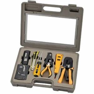 10 Piece Network Installation Tool Kit Includes Lan Data Tester Rj45 Rj11 66