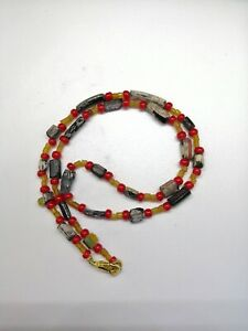 Rare Ancient Roman Glass Bead Necklace 2nd To 4th Century Ad Roman Glass Beads