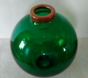 Green Large Glass Lightning Rod Ball Caps Roof Home Cabin Decor