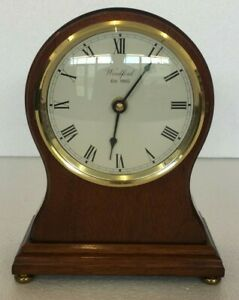 Woodford 9 Wooden Mantel Clock With U T S Quartz Movement Not Working