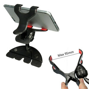 360 Universal Car Cd Slot Holder Clip Mount Cradle Stand For Mobile Phone Gps
