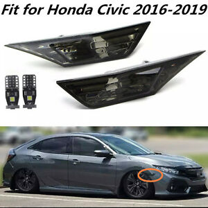 Smoke Tinted Lens Side Marker Lamp Light Fit For 2016 2020 Honda Civic Jdm