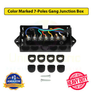 7way Trailer Wire Junction Box 7 Color Gang Junction Box 7 Way Trailer Blade Box