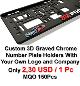 Your Own Custom 3d Number Plate Holders Personalised Surrounds Mqo 150pcs