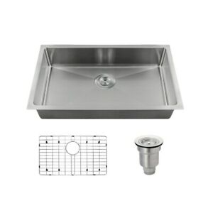 2905s Single Bowl 3 4 Radius Stainless Steel Sink Grid And Basket Strainer