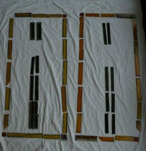 56 Spare Pieces For Leaded Light Stained Glass Window Panel S895e