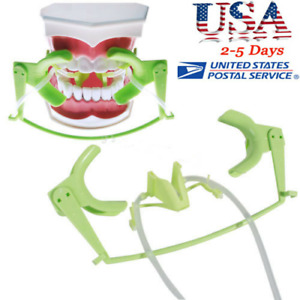 Dental Orthodontic Lip Cheek Retractor Green Oral Dry Field System Suction Usa