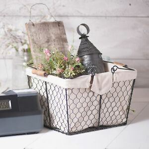 Irvin s Country Tinware Wire Caddy With Liner In Smokey Black