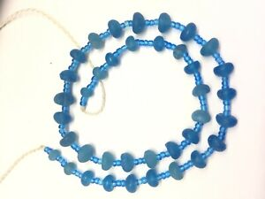Ancient Old Roman Glass Beads Raund Mixed Size 38 Pcs For Necklace Roman Glass