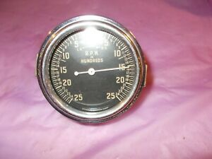 Vintage Used Stewart Warner 522 It Eg Rpm In Hundreds Tachometer