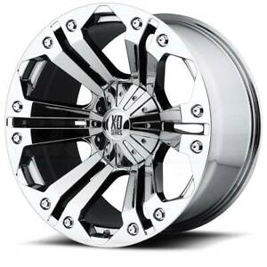20x9 Xd Series By Kmc Wheels Monster 5x139 7 5x150 Et35 Chrome Wheels set Of 4