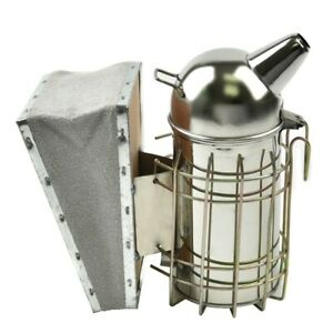 Beekeeping Beehive Smoker Press Cowhide Blowbox Round Apiculture Equipment Small
