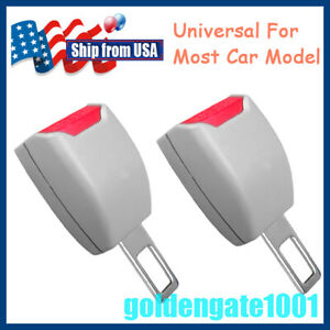 Us 2pcs Car Seat Belt Extender Safety Alarm Eliminator Gray For Toyota Camry Gg