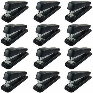 Clipco Stapler With 2000 Staples Full Desk Size Black 12 pack
