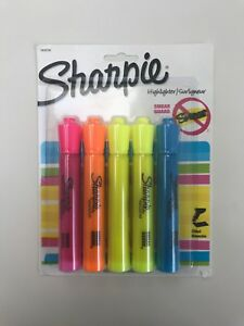 Sharpie Accent 5 pack Smear Guard Highlighters Assorted Tank Chisel