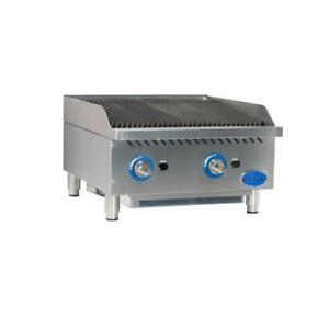 Globe Gcb24g cr 24 Radiant Gas Charbroiler Grill