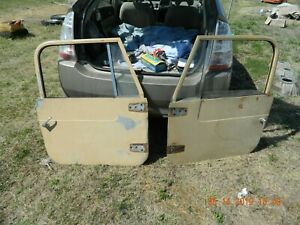 76 80 Jeep Cj 7 Pass And Drivers Side Full Hard Door Turn Handle Cj7 Rust Free