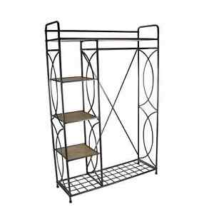 Studio 350 Metal Wood Clothes Rack 46 Inches Wide 70 Inches High