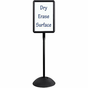 Safco Write Way Double sided Free standing Rectangle Message Board