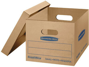 Bankers Small Moving Boxes File Storage Mailing Shipping Packing Cardboard 15 Pc