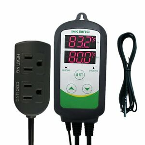 Inkbird Pre wired Digital Dual Stage Temperature Controller Outlet Thermostats 1