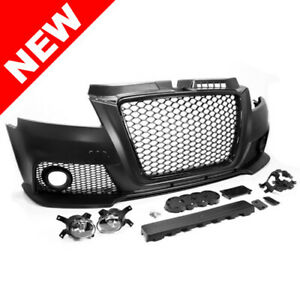 2009 2010 2011 2012 2013 Audi A3 Rs3 Style Front Bumper Kit W Fog Lights