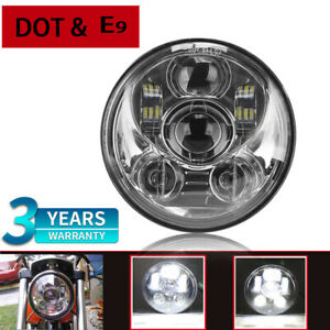 Motorcycle 5 3 4inch Led Projector Headlight For Motor Dyna Street Bob Fxdb 2009