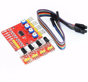 Four 4 Channel Infrared Detector Tracked Photoelectricity Sensor For Smart Car