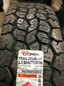2 New Lt 265 75 16 Lre 10 Ply Dick Cepek Trail Country Tires