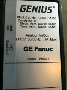 Ge Fanuc Ic660bba100 Analog In out 115v 50 60hz 1a Max