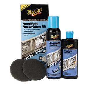 Meguiars G2970 Two Step Headlight Coating Restoration Kit Car Auto Cleaning New