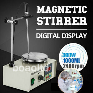 220v Hotplate Magnetic Stirrer Mixer Lab With Heating Plate 1000ml Speed Control