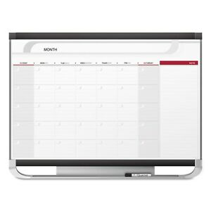 Quartet Prestige 2 Connects Total Erase Monthly Calendar 48 X 36 Graphite Color