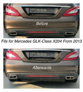 Chrome Exhaust Pipe Cover Trim Decor Mercedes Glk Class X204 From 2013 212