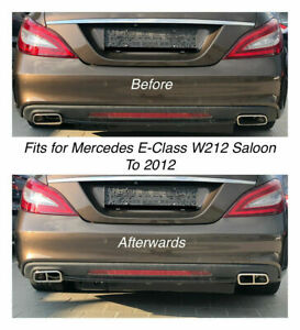 Chrome Exhaust Pipe Cover Trim Decor Mercedes E Class W212 Saloon To 2012 212
