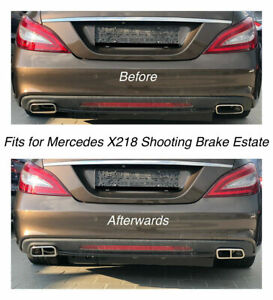 Chrome Exhaust Pipe Cover Trim Decor Mercedes X218 Shooting Brake Estate 212