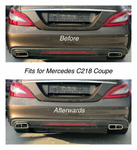 Chrome Exhaust Pipe Cover Trim Decor Mercedes C218 Coupe 212