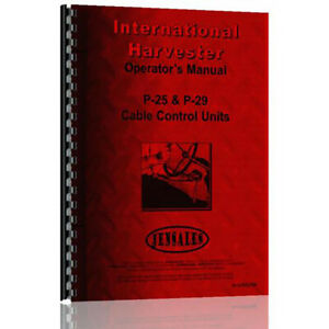 New International Harvester Td14a 141 Crawler Diesel P 25 Cable Operators Manual