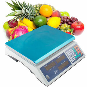 Scale 66 pound 30kg Digital Price Food Meat Cafeteria Candy Restaurant Market
