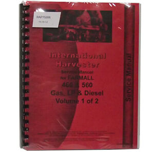 New Farmall 560 Tractor Service Manual 1958 To 1963
