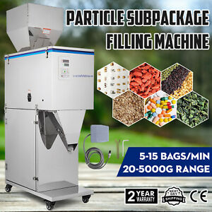 20 5000g Particle Subpackage Filling Filler Machine Commercial Weighing Powder